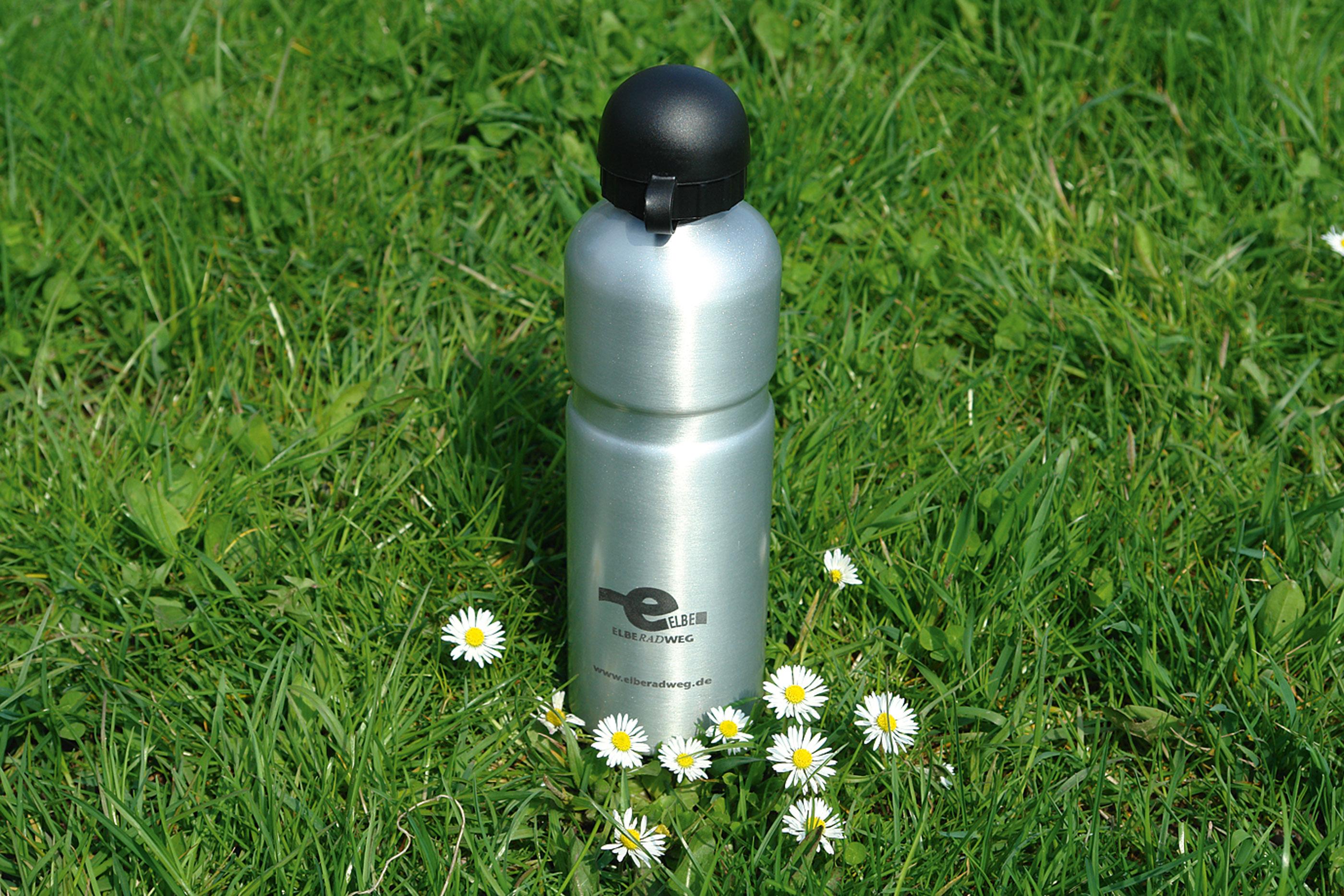Trinkflasche mit Elberadweg Logo